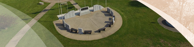 Aerial View of Veterans Memorial in Riverview Park