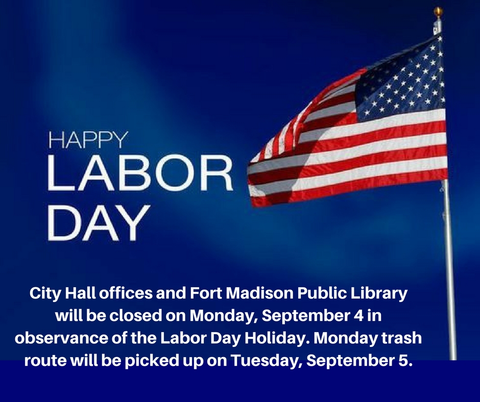 Calendar Labor Day : Fort madison ia official website