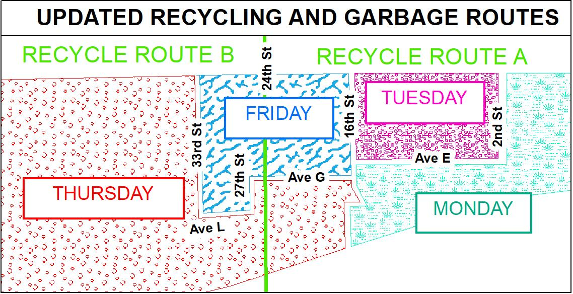 2018 Recycling Yard Waste Trash Route